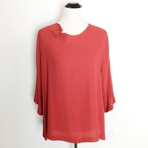 Vtg Hino & Malee Orange Folded Neckline Tunic